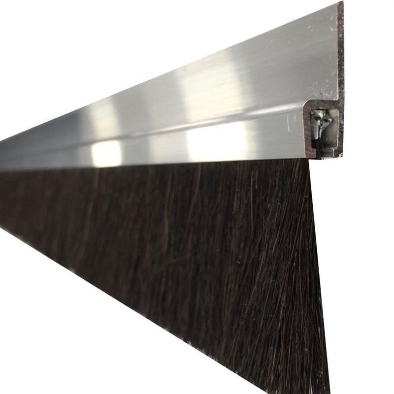 b rstendichtung t rdichtung tordichtung t rb rste 40 x 1000mm alu ro haar b rste. Black Bedroom Furniture Sets. Home Design Ideas