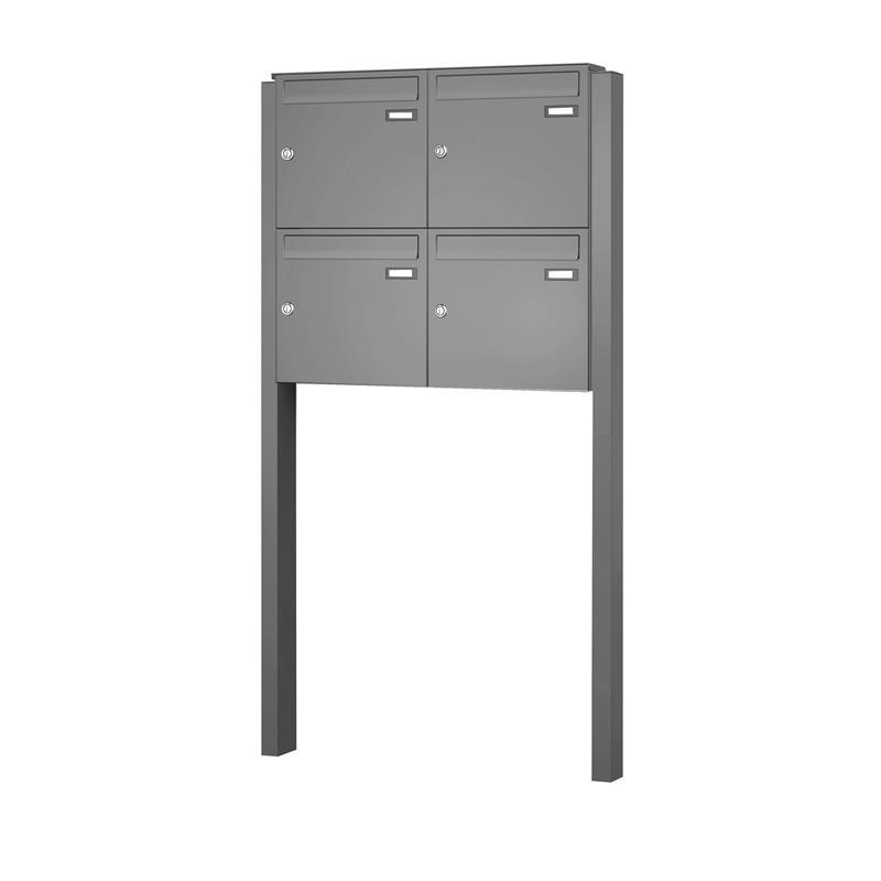 briefkastenanlage max knobloch freistehend bis 12 parteien ebay. Black Bedroom Furniture Sets. Home Design Ideas