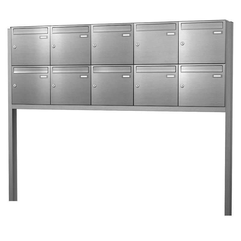 edelstahl briefkastenanlage max knobloch freistehend bis 12 parteien. Black Bedroom Furniture Sets. Home Design Ideas