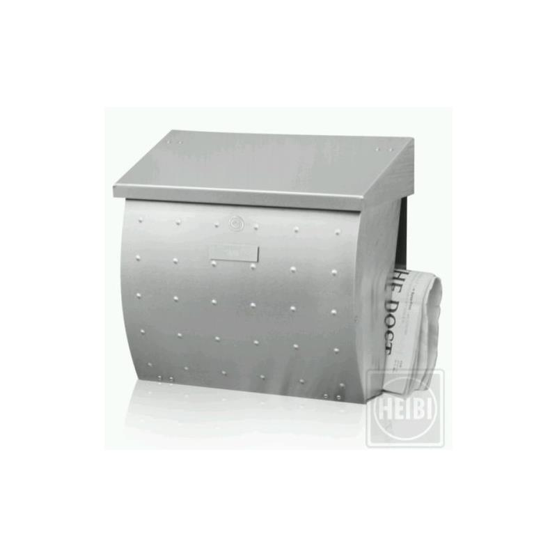 heibi edelstahlbriefkasten krosix mit zeitungsfach 64162 072. Black Bedroom Furniture Sets. Home Design Ideas
