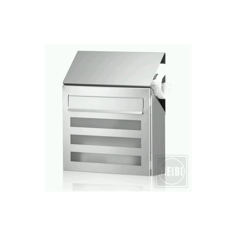 edelstahl briefkasten heibi terno 64236 072 ebay. Black Bedroom Furniture Sets. Home Design Ideas