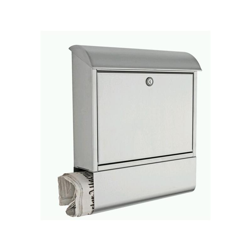 heibi briefkasten edelstahl mit zeitungsfach 43802 ebay. Black Bedroom Furniture Sets. Home Design Ideas