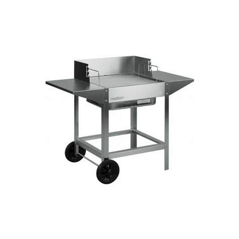 heibi edelstahl holzkohle grill 43765 1 fahrbar. Black Bedroom Furniture Sets. Home Design Ideas