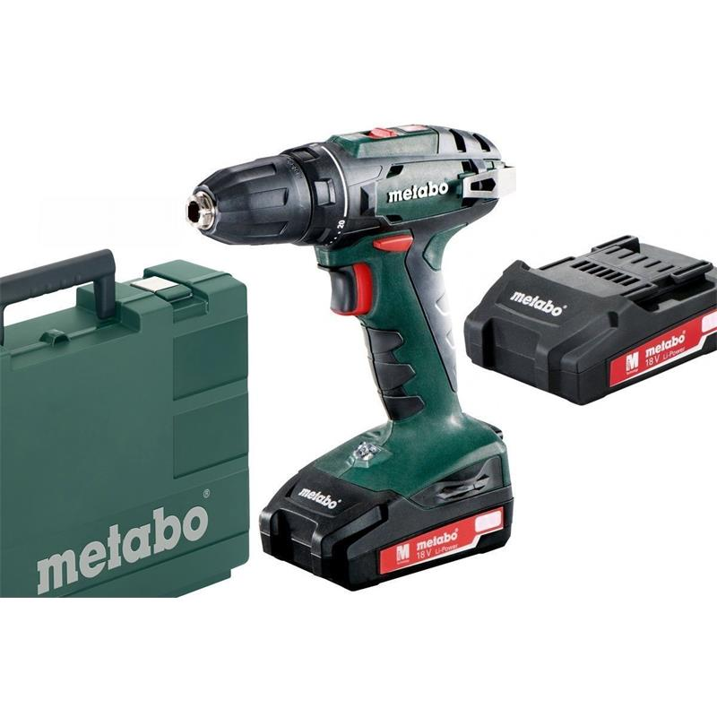 metabo akku bohrschrauber bs 18 2x 1 3 ah lipower ladeger t sc60 im koffer 4007430274960 ebay. Black Bedroom Furniture Sets. Home Design Ideas