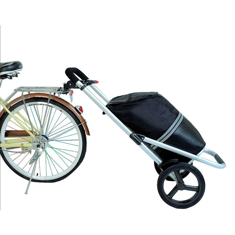 fahrrad trolley shopper mit kupplung inkl k hlfach einkaufswagen einkaufstrolly eur 82 50. Black Bedroom Furniture Sets. Home Design Ideas