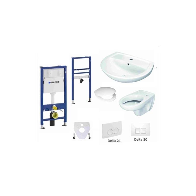 geberit duofix basic vorwandelement universal wc waschtisch delta dr ckerplatte ebay. Black Bedroom Furniture Sets. Home Design Ideas