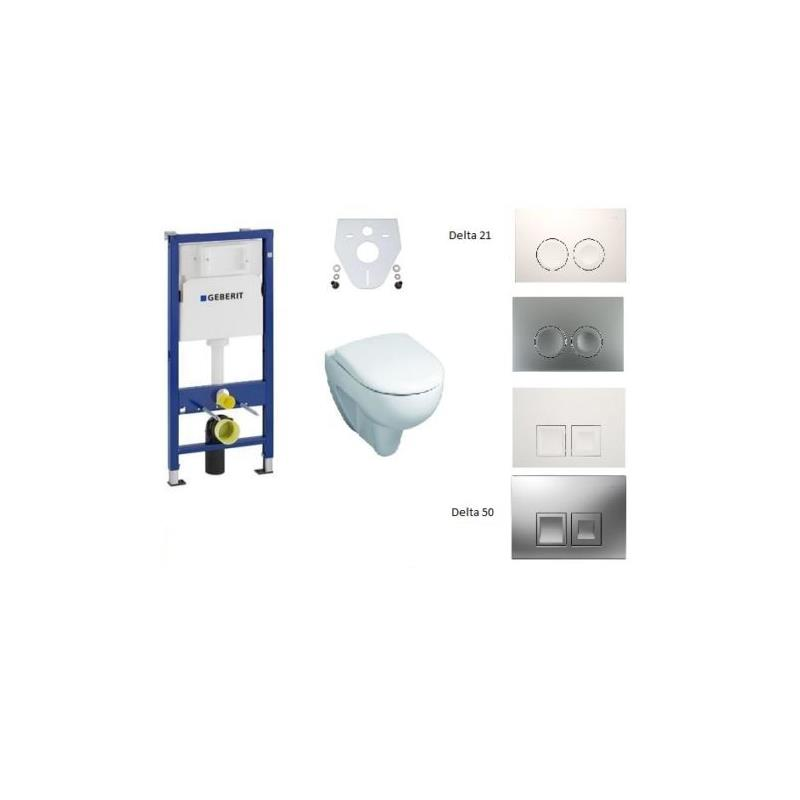 geberit keramag wc set renova nr 1 duofix basic mit delta und schallschutzset. Black Bedroom Furniture Sets. Home Design Ideas