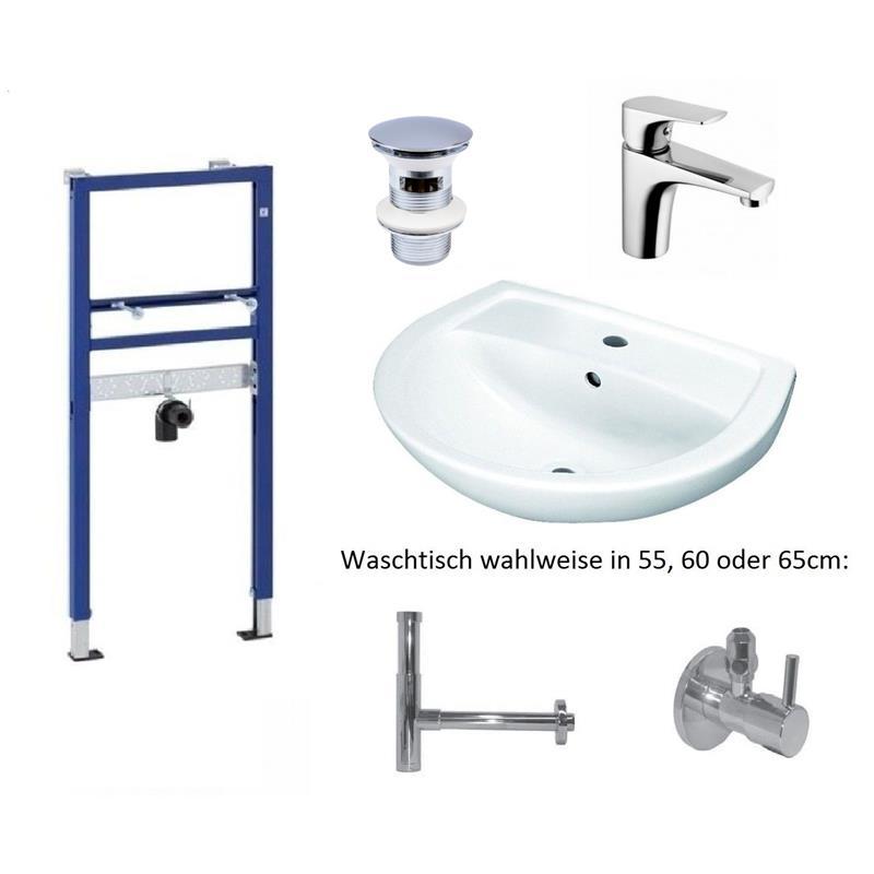 geberit duofix basic vorwandelement keramag waschtisch waschtischmischer set ebay. Black Bedroom Furniture Sets. Home Design Ideas