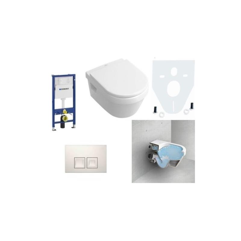 villeroy boch omnia architectura wc mit sitz sp lrandlos. Black Bedroom Furniture Sets. Home Design Ideas