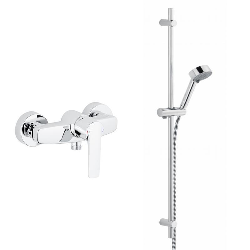 brausemischer duscharmatur mit brausestange dusche. Black Bedroom Furniture Sets. Home Design Ideas