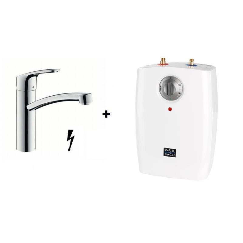 hans grohe focus sp ltischmischer untertischger t set warmwasserspeicher boiler. Black Bedroom Furniture Sets. Home Design Ideas