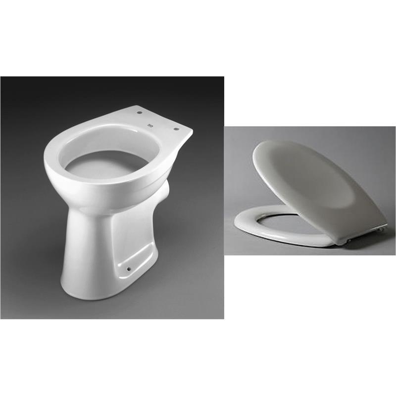 keramag delta stand wc flachsp ler klo toilette mit baltic sitz deckel set. Black Bedroom Furniture Sets. Home Design Ideas