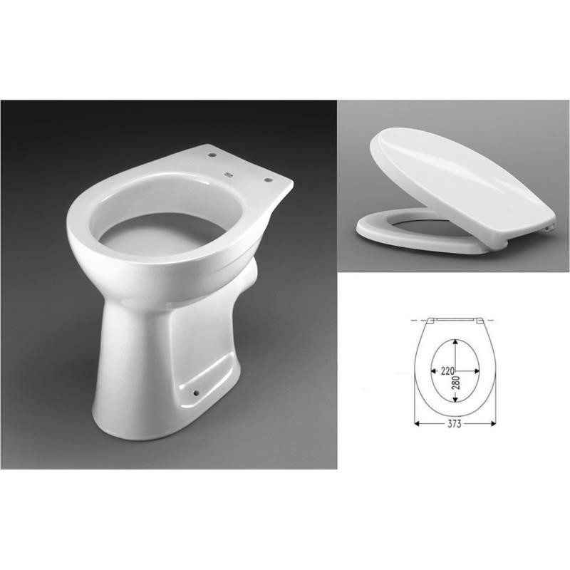 keramag delta stand wc flachsp ler klo toilette mit picco sitz deckel set. Black Bedroom Furniture Sets. Home Design Ideas