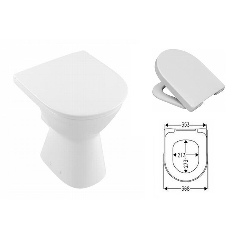 villeroy boch o novo stand wc vita tiefsp ler erh ht 46cm mit bacan sitz softclose. Black Bedroom Furniture Sets. Home Design Ideas